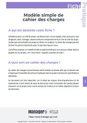 Exemple simple d 39 un cahier des charges pour un projet - Cahier des charges definition ...