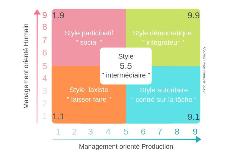 Grille De Blake Et Mouton 5 Grands Types De Management